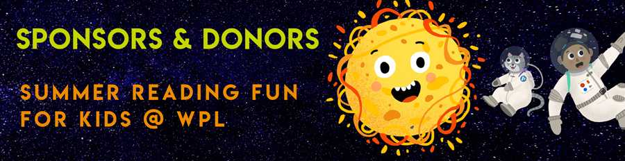 Space themed summer reading club graphics