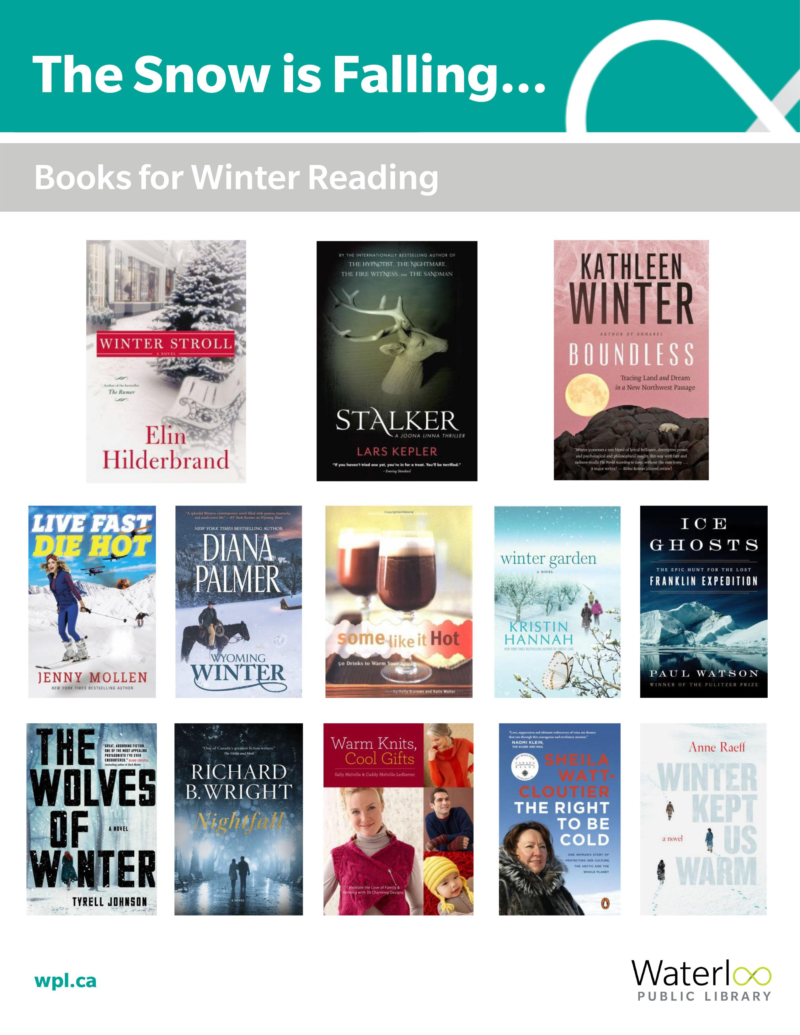 Snow Is Falling : list of books to read in the winter